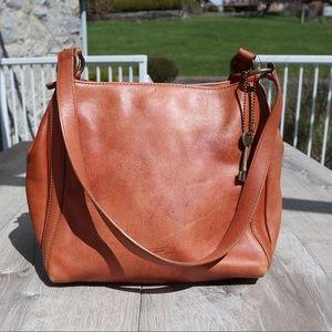 Fossil beautiful leather purse bag tote